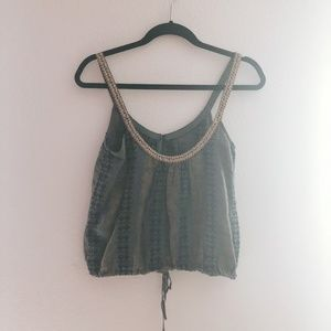 Free People Beaded Top with Drawstring
